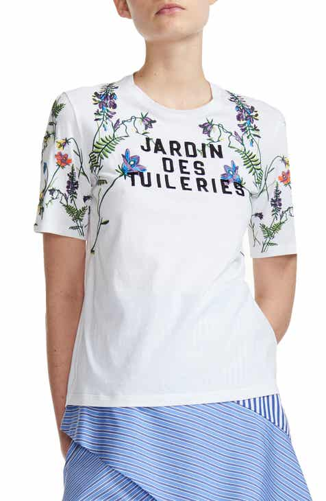 857acde7 maje Jardin Des Tuileries Embroidered Cotton Tee