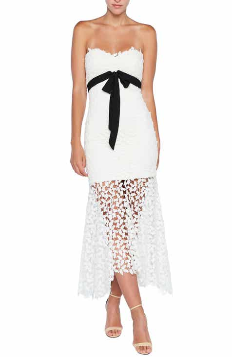 Bardot Lace Bow Midi Dress
