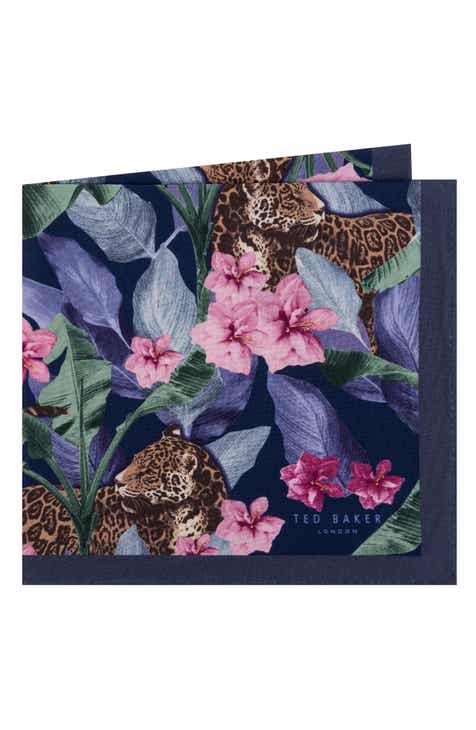 c3b676105 Ted Baker London Cheetah Silk Pocket Square