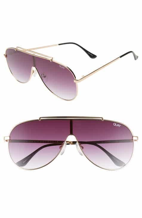 b2cad36ef33c5 Quay Australia x JLO El Dinero 55mm Aviator Shield Sunglasses
