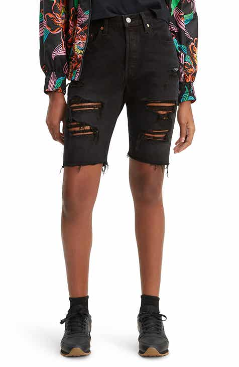 8eb77381 Levi's® 501® Ripped Slouch Shorts (Black Mark)