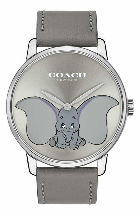 061f0a51b278 COACH x Disney Dumbo Grand Leather Strap Watch