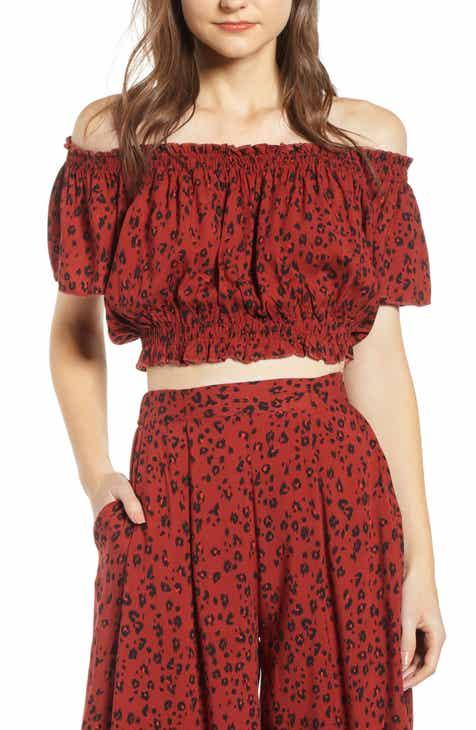 02e2650e9da1 Lira Clothing Wild Thang Off the Shoulder Crop Top