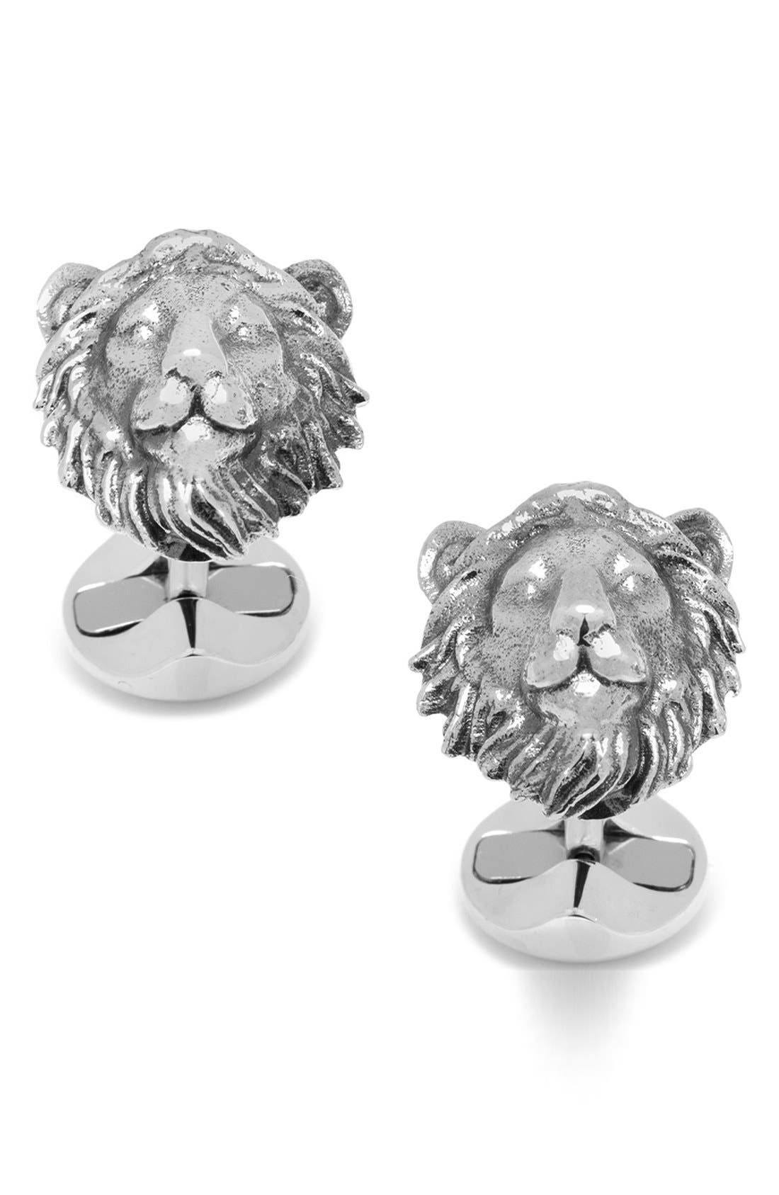 OX AND BULL TRADING CO. Lion Head Cuff Links