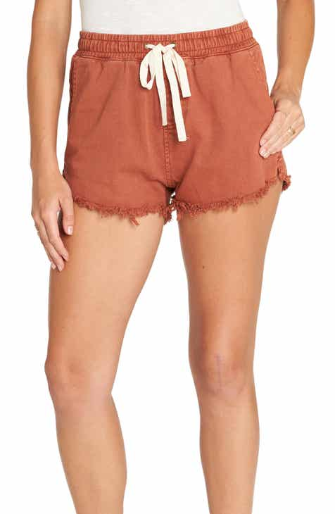 Vince Belted Stretch Cotton & Linen Blend Shorts by VINCE