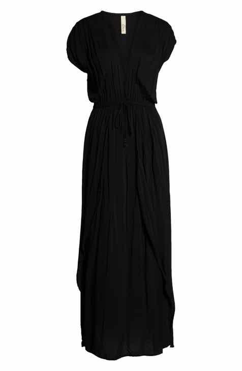 Elan Deep V-Neck Cover-Up Maxi Dress 058e01dd1