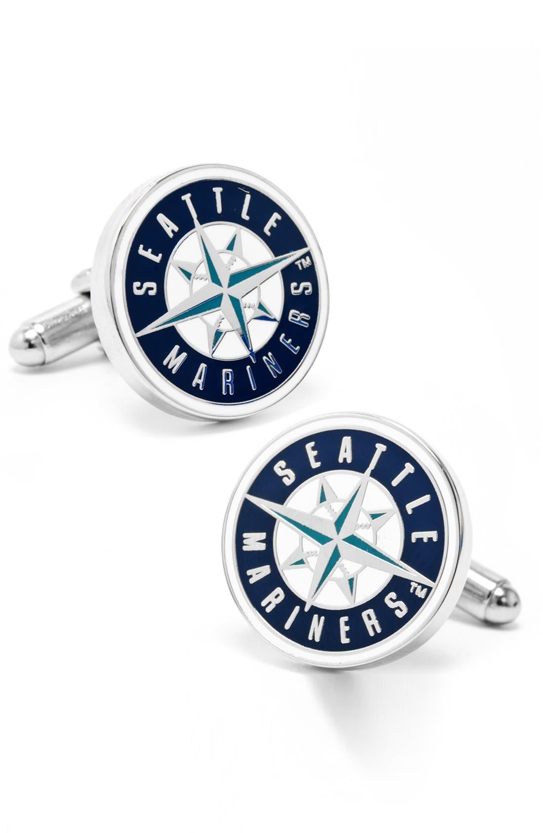 CUFFLINKS, INC. Seattle Mariners Cuff Links