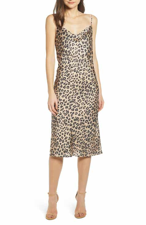 12d5d4a51ad0 Bardot Leopard Cocktail Slipdress