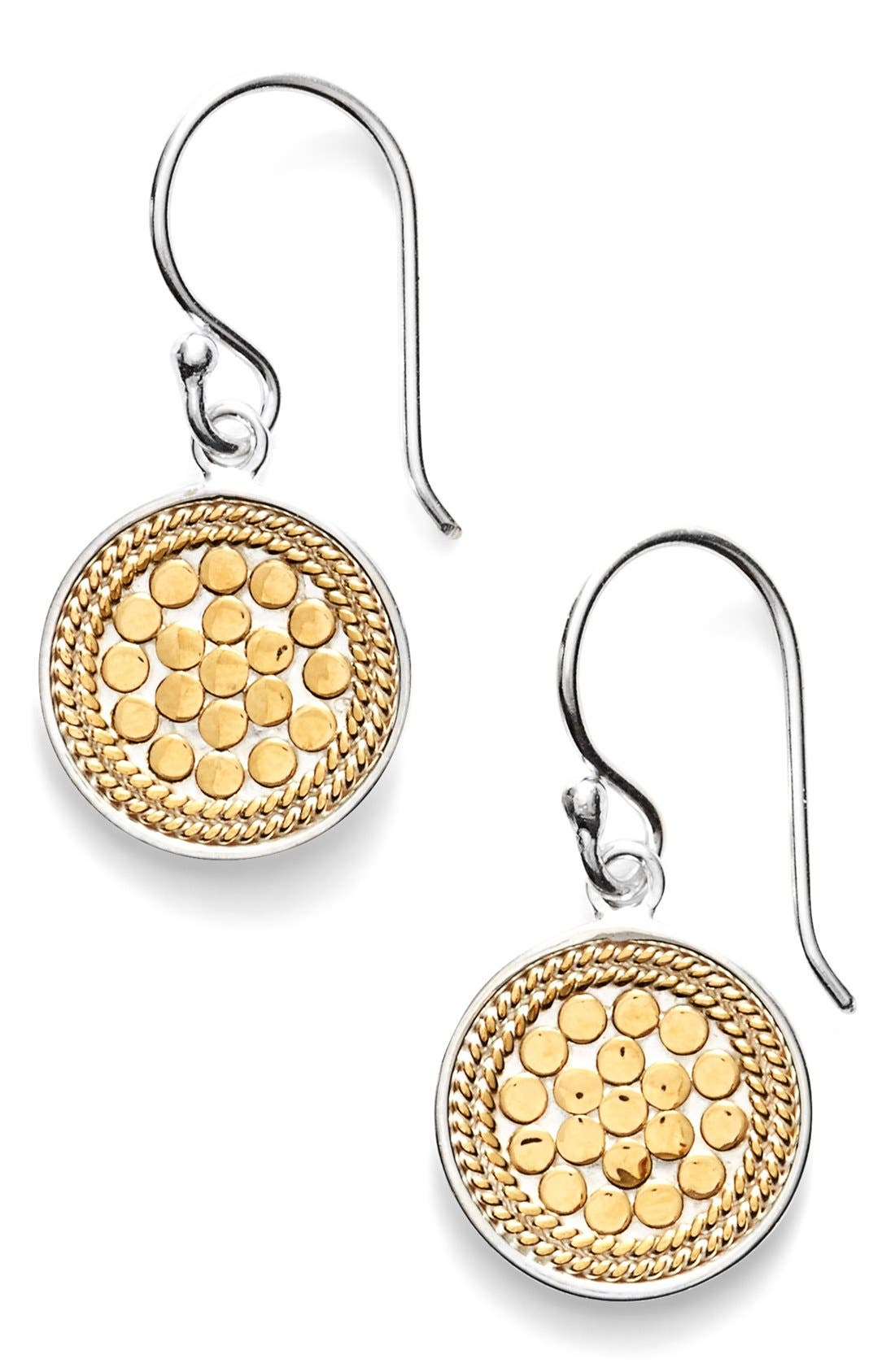 'Gili' Small Drop Earrings,                             Main thumbnail 1, color,                             Gold/ Silver