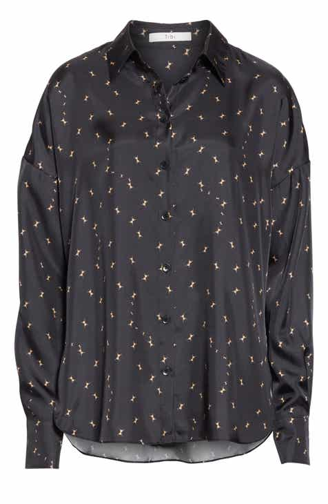Tibi Ant Polka Dot Relaxed Blouse