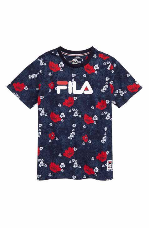 best website 9a49d 27c38 FILA Floral Print Logo T-Shirt (Little Boys   Big Boys)