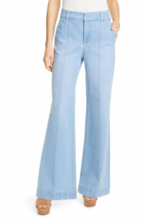 Alice + Olivia Jeans Paula Bell Bottom Jeans (Fade Away) by ALICE AND OLIVIA JEANS