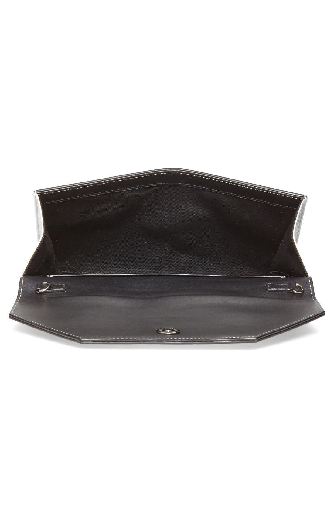 Alternate Image 3  - Halogen® Ombré Leather Envelope Clutch