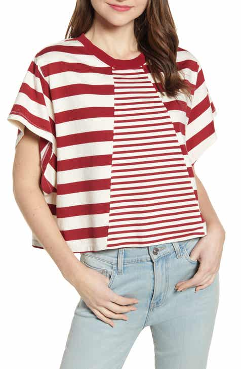 76ff578c23e78 Current/Elliott The Tex Stripe Mix Cotton Tee