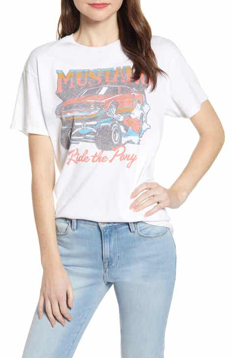 8517f57ea3d718 Junk Food Mustang Ride the Pony Cotton Tee