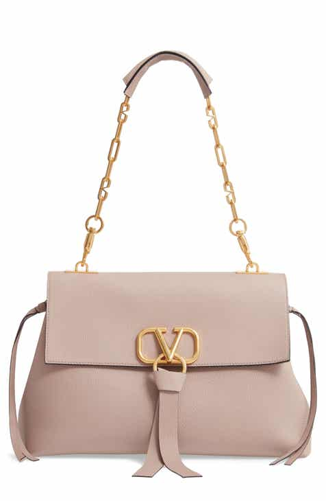 4f2835ede5 VALENTINO GARAVANI Medium Vee Ring Leather Shoulder Bag