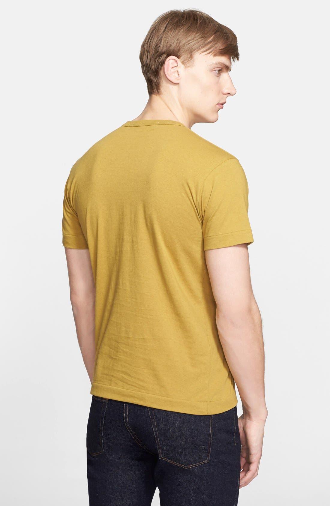 Comme des Garçons PLAY Cotton Jersey T-Shirt,                             Alternate thumbnail 2, color,                             Olive