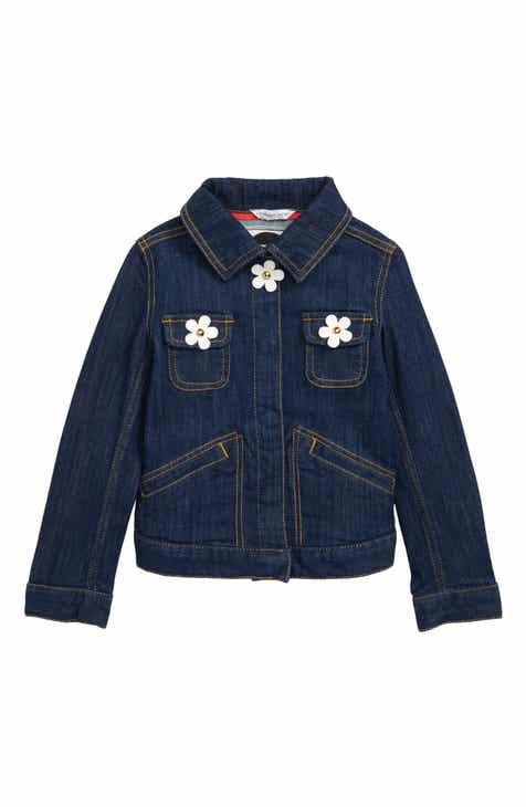842c808752cd LITTLE MARC JACOBS Daisies Denim Jacket (Little Girls   Big Girls)