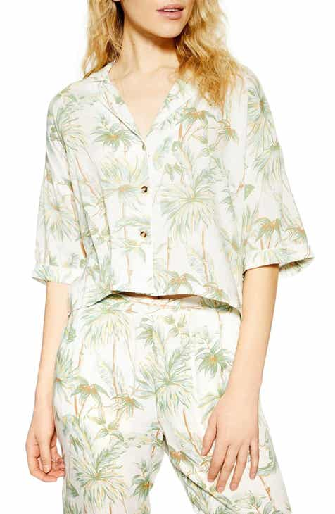 Topshop Tropical Pajama Shirt by TOPSHOP