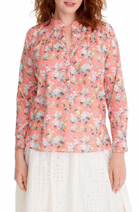 c08fe9d8cfa383 J.Crew Liberty® Josephine Floral Ruffle Popover Shirt