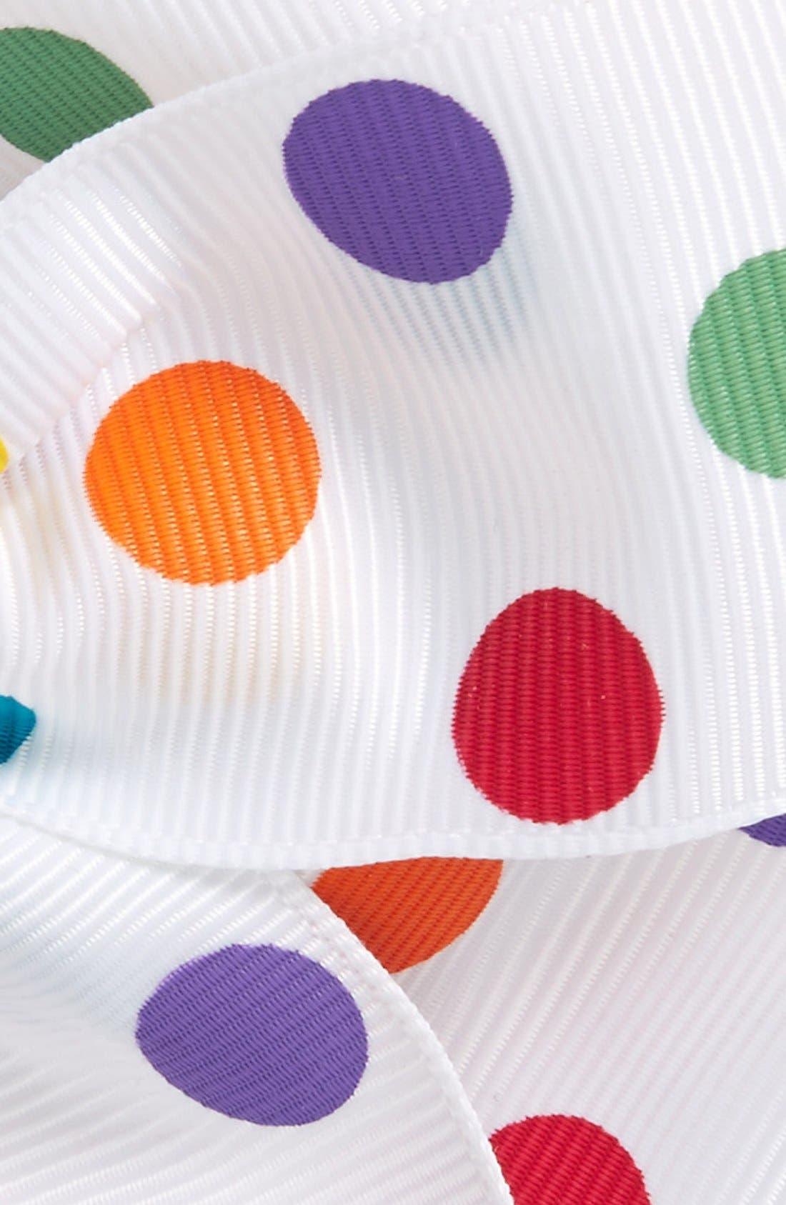 Grosgrain Bow Clip,                             Alternate thumbnail 2, color,                             Multi Dot