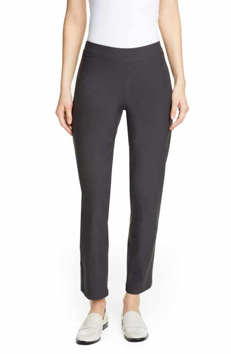 370b4a0e02e Eileen Fisher Stretch Crepe Slim Ankle Pants