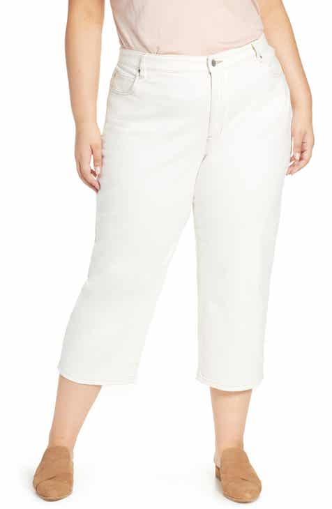Eileen Fisher Stretch Organic Cotton Crop Jeans (Plus Size) by EILEEN FISHER