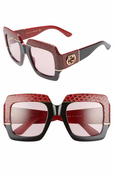 119de9f665 Gucci 54mm Genuine Snakeskin Embellished Square Sunglasses