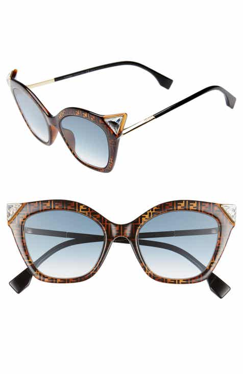 52a51573ea6 Fendi 52mm Gradient Cat Eye Sunglasses