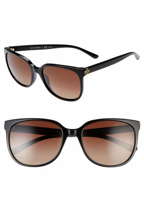 3708fc342b2d Tory Burch Revo 57mm Polarized Square Sunglasses