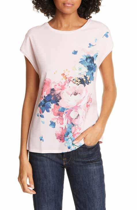 f66e8b55c Ted Baker London Raspberry Ripple Mixed Media Tee
