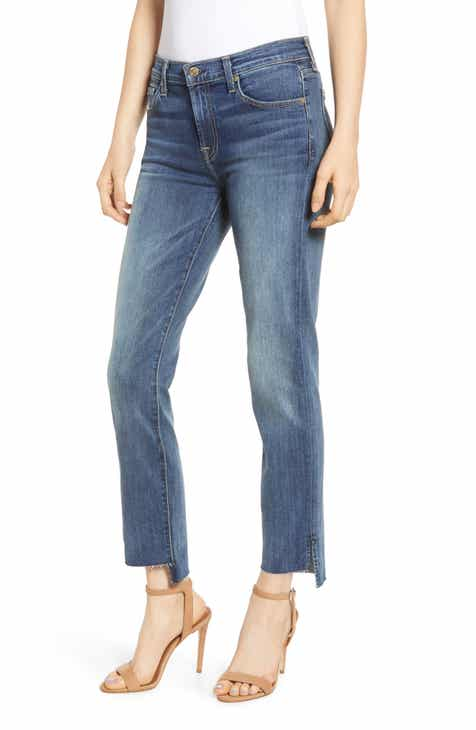 Jag Jeans Ruby Straight Leg Crop Jeans (Island Blue) by JAG