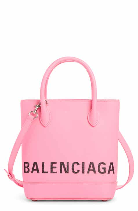 0943e4930a Balenciaga Extra Small Ville Logo Leather Tote