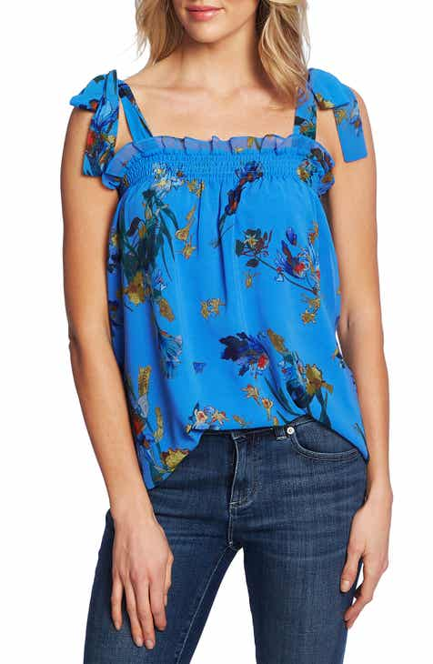 8341de712aca CeCe Watercolor Floral Top