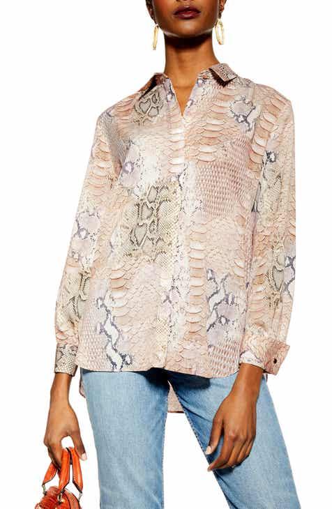 5b925a5b590ee Topshop Pale Python Print Shirt