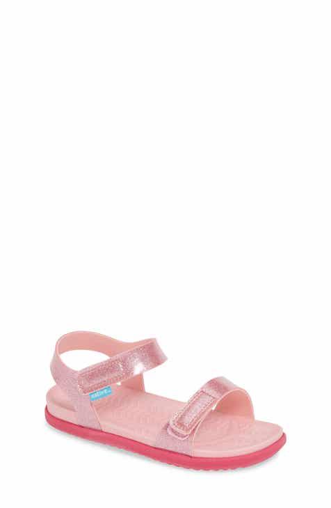 80dae1bc2b07 Native Shoes Charley Child Waterproof Flat Vegan Sandal (Walker