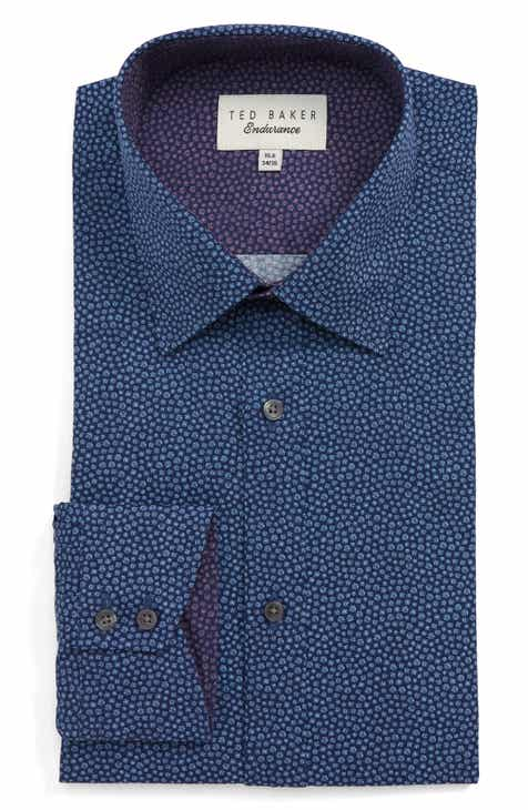 61f54d212 Ted Baker London Endurance Belugar Slim Fit Dot Dress Shirt