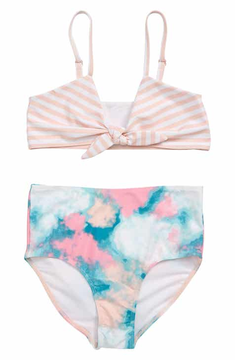 0c89d80e8c8a Tucker + Tate Mix Print Two-Piece Swimsuit (Big Girls)
