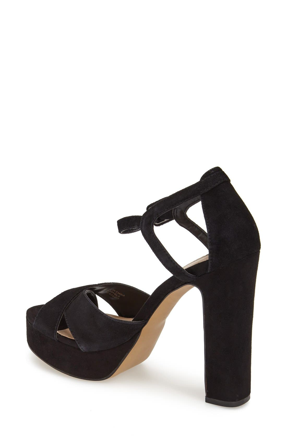 Alternate Image 2  - Topshop 'Locket' Platform Suede Sandal (Women)