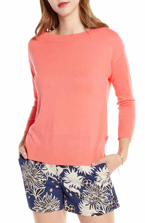 1901 Side Button Boat Neck Sweater (Regular, Petite & Plus Size) by 1901