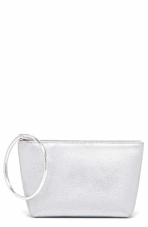 291b48399e2 THACKER Small Ring Handle Metallic Leather Pouch