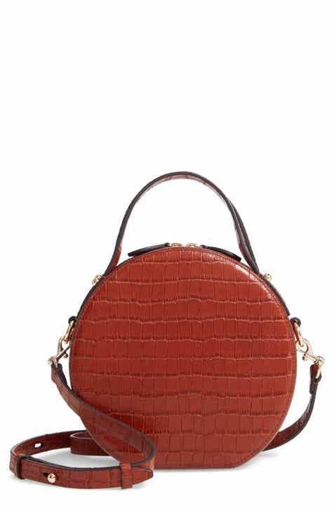 04dc96cd7 Rebecca Minkoff Jody Croc Embossed Leather Circle Crossbody Bag