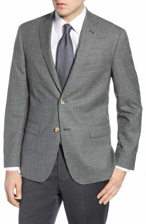 53f68f0b8a1 John W. Nordstrom® Traditional Fit Check Wool Blend Sport Coat