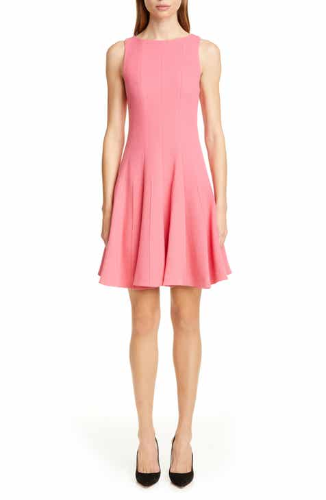 Best Design Emporio Armani Wool Crepe Fit & Flare Dress Cool