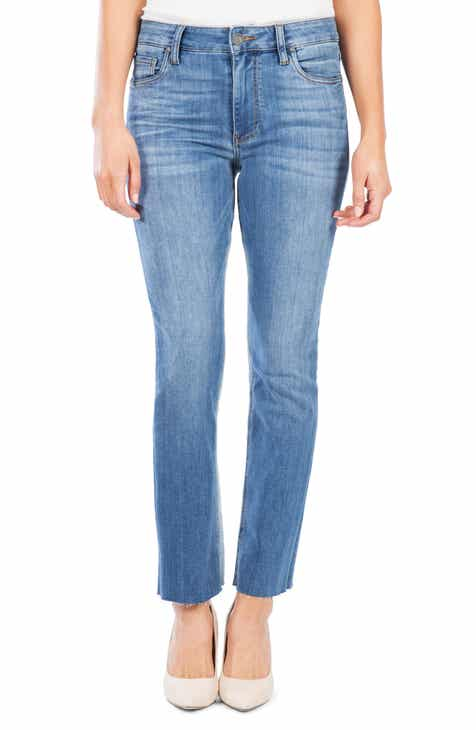 c68df299695 KUT from the Kloth Kelsey High Waist Raw Hem Ankle Flare Jeans (Produce Wash )