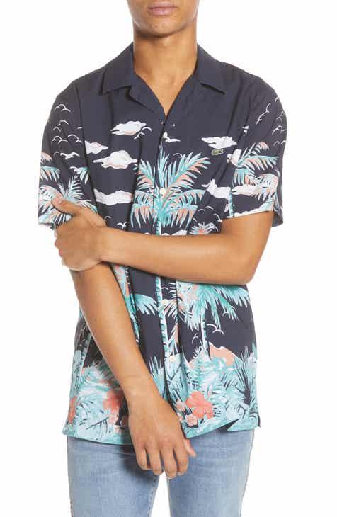 8e957080f5f8 Lacoste Tropical Print Camp Shirt