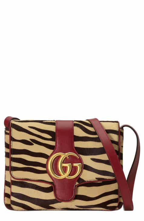 25e23c09253e Gucci Medium Arli Tiger Print Genuine Calf Hair & Leather Shoulder Bag