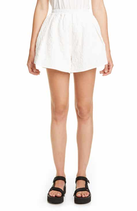 Veronica Beard Gwen Paperbag Waist Linen Blend Shorts by VERONICA BEARD