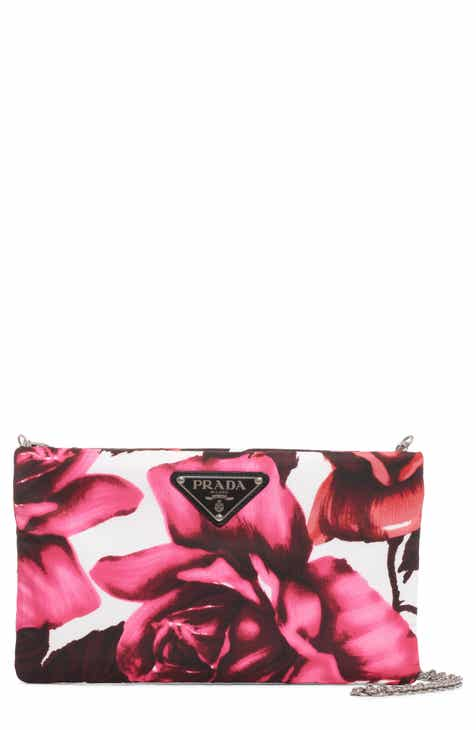 1ada57a903ca Prada Roses Nylon Shoulder Bag
