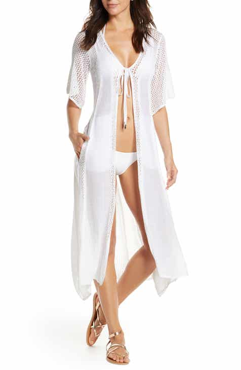 Elan Crochet Panel Swim Cover-Up